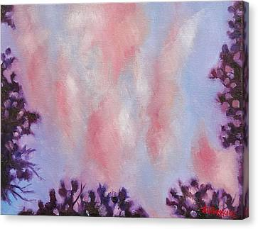 Evening Clouds Canvas Print