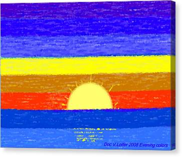 Canvas Print featuring the digital art Evening Colors by Dr Loifer Vladimir