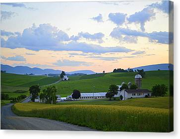 Evening Countryside #1 - Millmont Pa Canvas Print