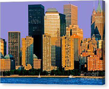 Evening Falls On The Battery Nyc Canvas Print