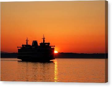 Evening Ferry Canvas Print
