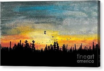 Evening Freedom Canvas Print