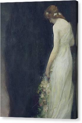Wedding Bouquet Canvas Print - Evening by Gabriel-Joseph-Marie-Augustin Ferrier
