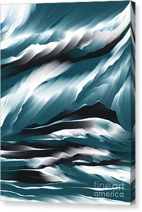Evening Glow Canvas Print by Hilda Lechuga