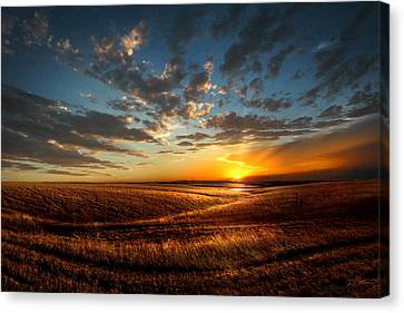 Evening Glow In Chase County Canvas Print by Rod Seel