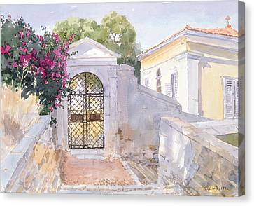Evening Hroussa Canvas Print by Lucy Willis