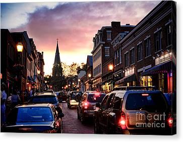 Evening In Annapolis Canvas Print