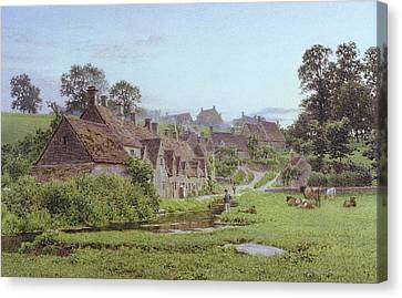 Evening In Arlington Row Canvas Print by Newton Bennett