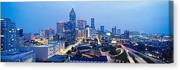 Evening In Atlanta, Atlanta, Georgia Canvas Print by Panoramic Images