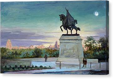 Evening In Forest Park Saint Louis Canvas Print by Irek Szelag
