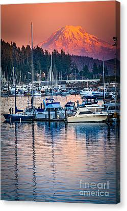Evening In Gig Harbor Canvas Print by Inge Johnsson