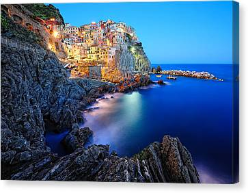 Gorgeous View Canvas Print - Evening In Manarola by Roman Rodionov