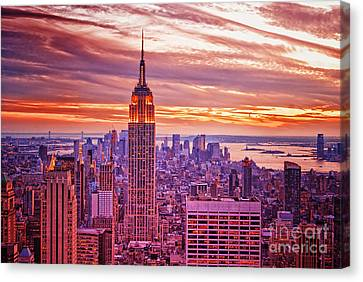 Evening In New York City Canvas Print