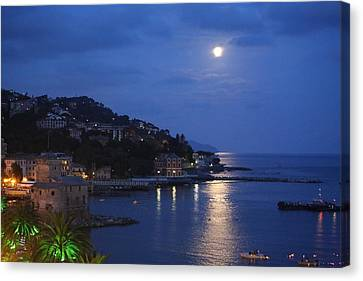 Evening In Rapallo Canvas Print by Roberto Galli della Loggia