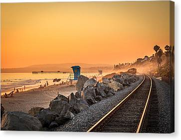 Evening In San Clemente Canvas Print by Steve Skinner