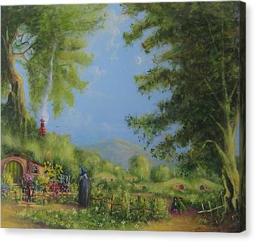Evening In The Shire. Canvas Print by Joe  Gilronan