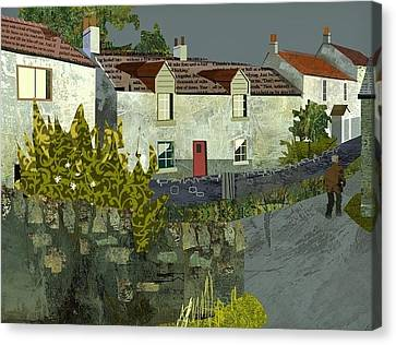 Evening In The Village. Canvas Print by Kenneth North