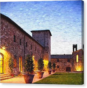 Evening In Tuscany Canvas Print by Garland Johnson