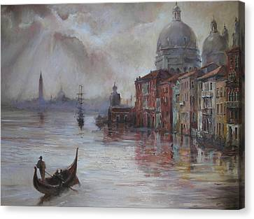 Evening In Venice. Canvas Print by Tigran Ghulyan