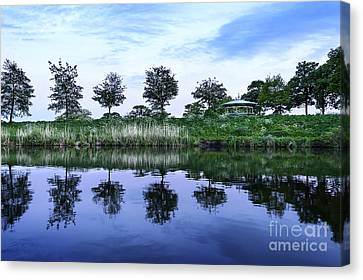 Evening Lake Canvas Print by Svetlana Sewell