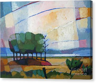 Impressionist Landscape Canvas Print - Evening Landscape by Lutz Baar