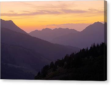 Evening Layers Canvas Print by Chad Dutson