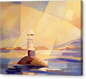 Evening Light At The Sea Canvas Print by Lutz Baar