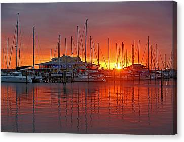Evening Light Canvas Print by HH Photography of Florida