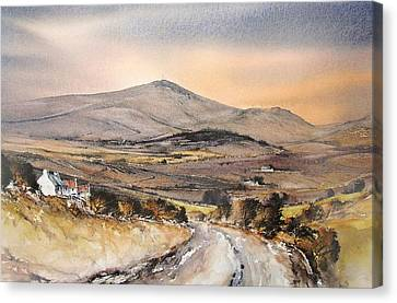 Canvas Print - Evening Light Mount Leinster by Roland Byrne