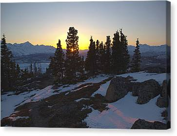 Matanuska Canvas Print - Evening Light On A Mountain Ridge by Tim Grams