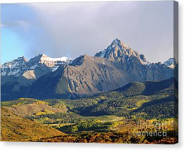 Evening Light On The Sneffels Range Canvas Print by Alex Cassels