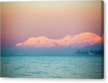 Evening Light Over Mountains Canvas Print