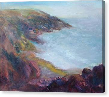 Evening Light On The Oregon Coast - Original Impressionist Oil Painting - Plein Air Canvas Print
