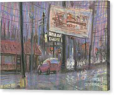 Evening Lights Canvas Print by Donald Maier