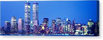 Evening, Lower Manhattan, Nyc, New York Canvas Print