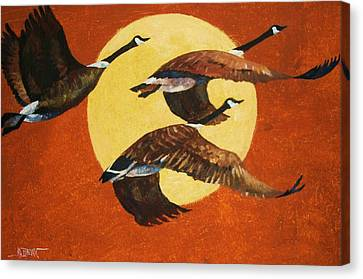 Evening Migration Canvas Print by Al Brown
