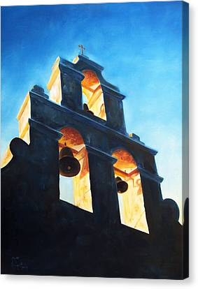 Evening Mission Canvas Print by Scott Alcorn
