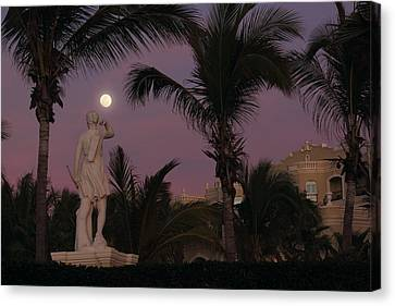 Evening Moon Canvas Print by Shane Bechler