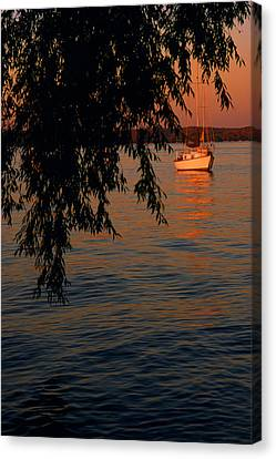Nautical Canvas Print - Evening Mooring - Lake Geneva Wisconsin by Bruce Thompson