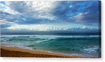 Evening North Shore Oahu Hawaii Canvas Print by Kevin Smith