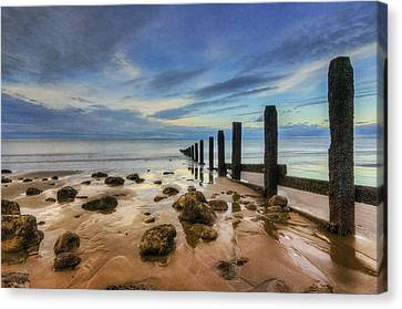 Evening Ocean Canvas Print by Ian Mitchell