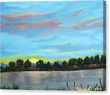 Evening On Ema River Canvas Print