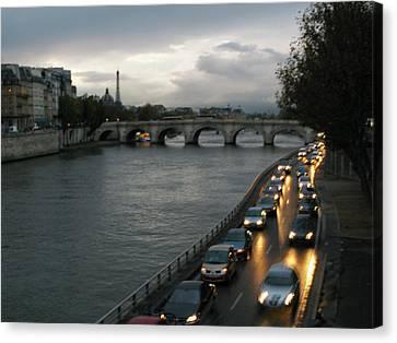 Evening On Pont Au Change  Canvas Print by Joe Schofield