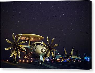 Evening On The Carrier Canvas Print