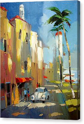 Evening On The Isla Mujeres Canvas Print by Dmitry Spiros