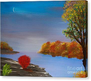 Evening On The Last Sunny Day Canvas Print by Alys Caviness-Gober