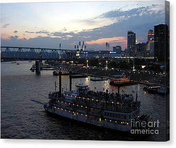 Evening On The River 2 Canvas Print by Mel Steinhauer