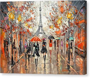Evening. Paris Canvas Print by Dmitry Spiros