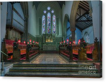 Crucifix Art Canvas Print - Evening Prayers by Ian Mitchell