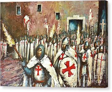 Templar Procession  Canvas Print